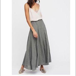 Free People linen skirt